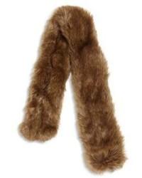 Коричневый меховой шарф