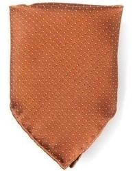 Мужской коричневый нагрудный платок в горошек от Mr Start