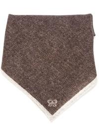Мужской коричневый нагрудный платок от Eleventy