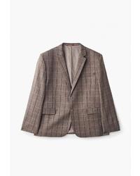 Мужской коричневый пиджак в клетку от Bazioni