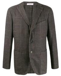 Мужской коричневый пиджак в клетку от Boglioli