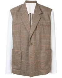 Мужской коричневый пиджак в клетку от Botter