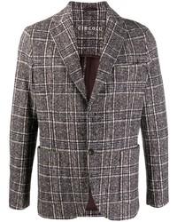 Мужской коричневый пиджак в клетку от Circolo 1901