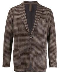 Мужской коричневый пиджак в клетку от Eleventy