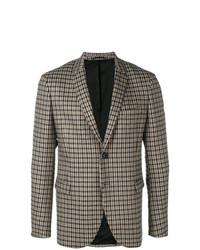 Мужской коричневый пиджак в клетку от Neil Barrett