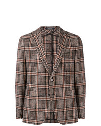 Мужской коричневый пиджак в клетку от Tagliatore