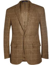 Коричневый пиджак в шотландскую клетку