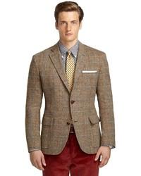 Мужской коричневый пиджак в шотландскую клетку от Brooks Brothers