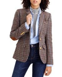 """Коричневый пиджак с узором """"гусиные лапки"""""""