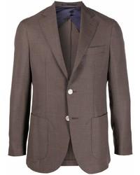 Мужской коричневый пиджак от Barba