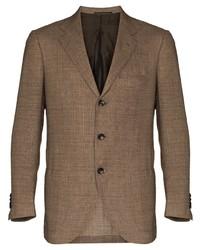 Мужской коричневый пиджак от Kiton
