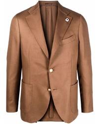 Мужской коричневый пиджак от Lardini