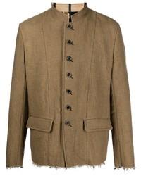 Мужской коричневый пиджак от Uma Wang