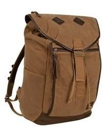 Коричневый рюкзак из плотной ткани