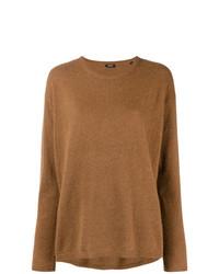 Женский коричневый свитер с круглым вырезом от Aspesi