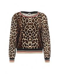 Женский коричневый свитер с круглым вырезом от Aurora Firenze