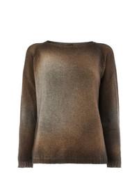 Женский коричневый свитер с круглым вырезом от Avant Toi