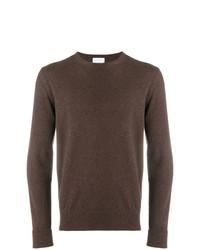 Мужской коричневый свитер с круглым вырезом от Ballantyne