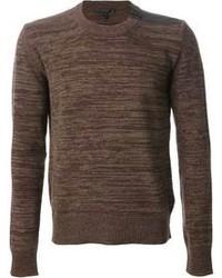 Мужской коричневый свитер с круглым вырезом от Belstaff