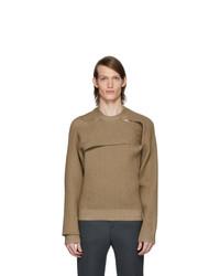 Мужской коричневый свитер с круглым вырезом от Bottega Veneta
