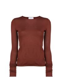 Женский коричневый свитер с круглым вырезом от Christian Wijnants