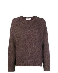 Женский коричневый свитер с круглым вырезом от Knott