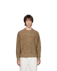 Мужской коричневый свитер с круглым вырезом от Lemaire