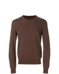Мужской коричневый свитер с круглым вырезом от Maison Margiela