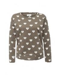 Женский коричневый свитер с круглым вырезом от Only