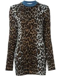 Женский коричневый свитер с круглым вырезом от Stella McCartney