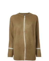 Женский коричневый свитер с круглым вырезом от Suzusan