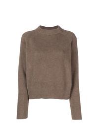 Женский коричневый свитер с круглым вырезом от The Row