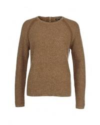 Женский коричневый свитер с круглым вырезом от Tommy Hilfiger