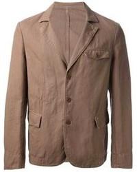 Коричневый хлопковый пиджак