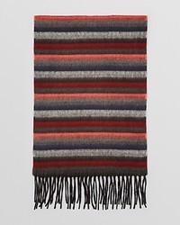 Коричневый шарф в горизонтальную полоску
