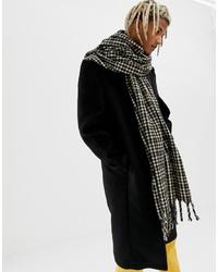 Мужской коричневый шарф в клетку от ASOS DESIGN