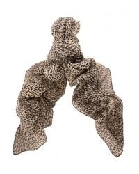 Женский коричневый шарф с леопардовым принтом от Saint Laurent