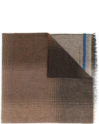 Мужской коричневый шарф с принтом от Etro