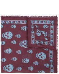 Женский коричневый шарф от Alexander McQueen