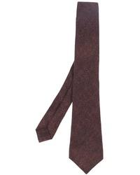 Мужской коричневый шелковый галстук от Kiton