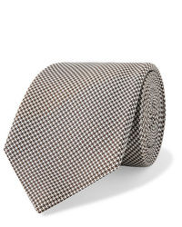 """Мужской коричневый шерстяной галстук с узором """"гусиные лапки"""" от Kingsman"""
