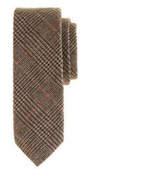 Коричневый шерстяной галстук