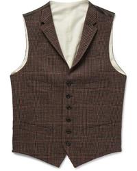 Мужской коричневый шерстяной жилет от Polo Ralph Lauren