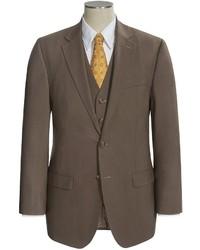 Коричневый шерстяной костюм-тройка