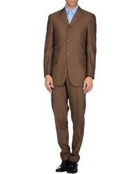 Мужской коричневый шерстяной костюм