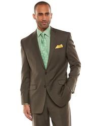 Мужской коричневый шерстяной костюм от Chaps