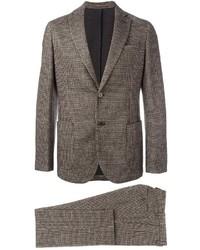 Мужской коричневый шерстяной костюм от Eleventy