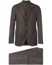 Мужской коричневый шерстяной костюм от Lardini