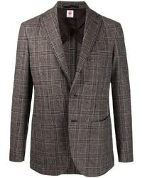 Мужской коричневый шерстяной пиджак в шотландскую клетку от Borrelli