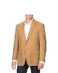 """Коричневый шерстяной пиджак с узором """"в ёлочку"""""""